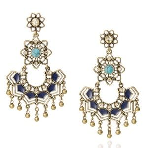Chloe and Isabel Golden Lotus Statement Earrings